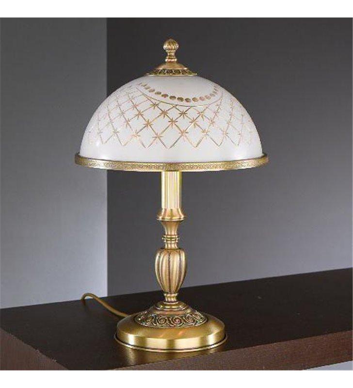 Lampa stołowa szklana Topaz1 Mosiądz