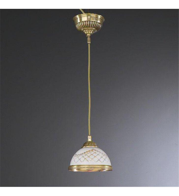 Zdobiona pojedyńcza lampa wisząca Topaz1 Mosiądz