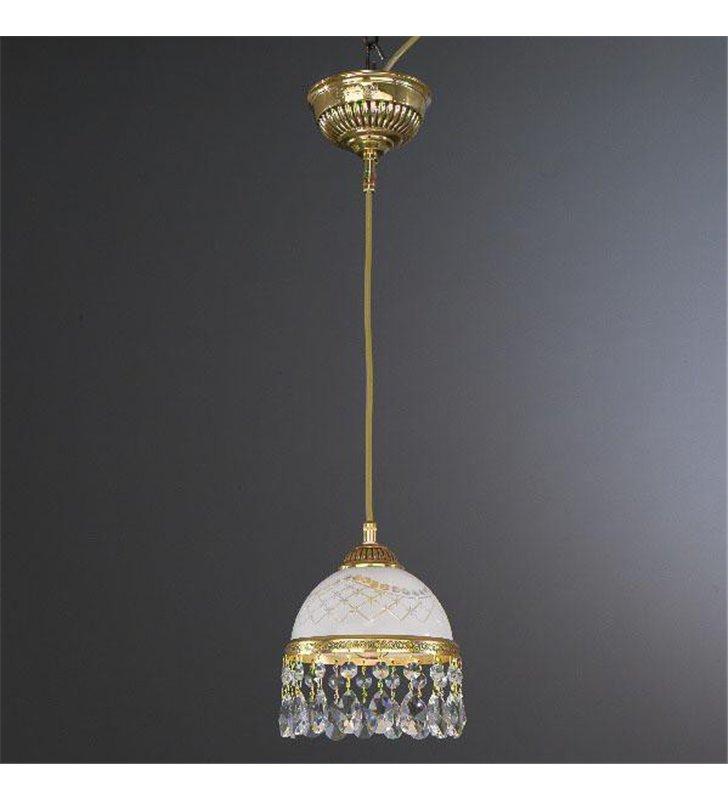 Złota pojedyńcza lampa wisząca Topaz