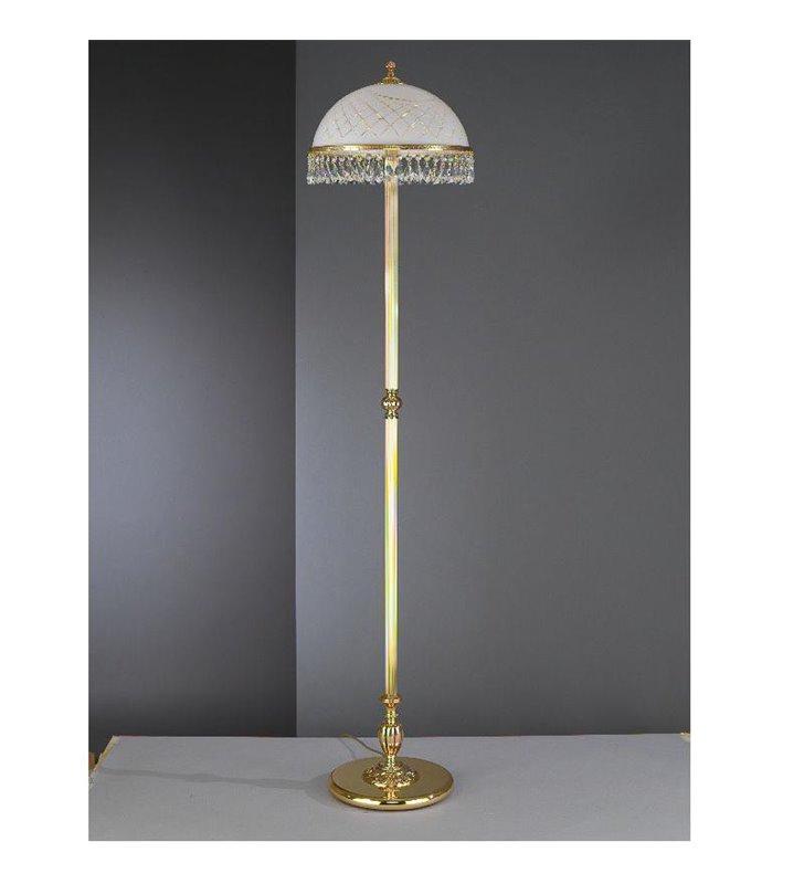 Lampa podłogowa ekskluzywna Topaz Złoto