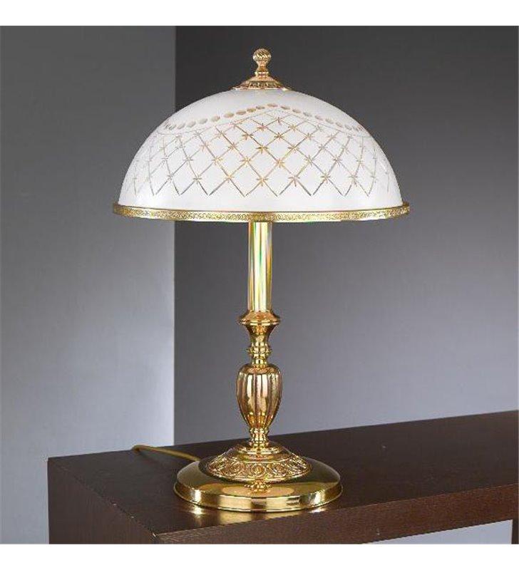 Nocna lampa włoska Topaz1 Złoto szkło zdobione