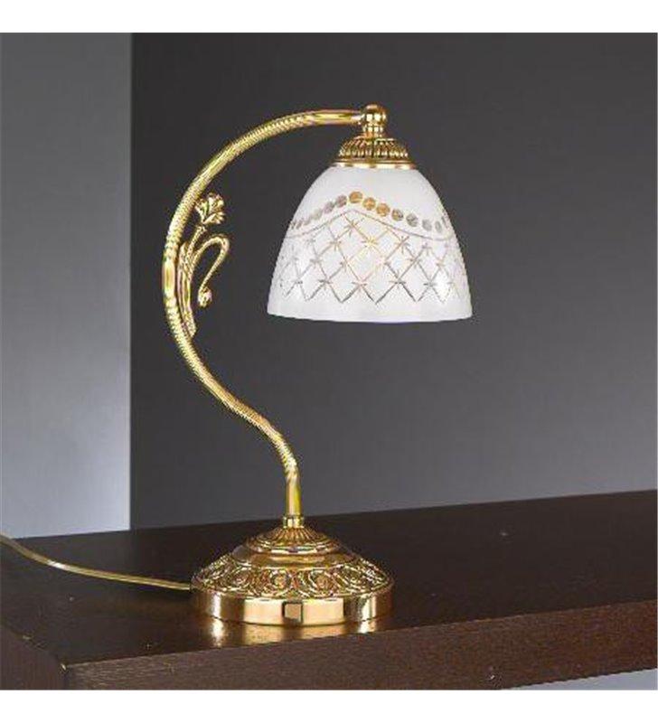 Złota lampa stołowa włoska Karen