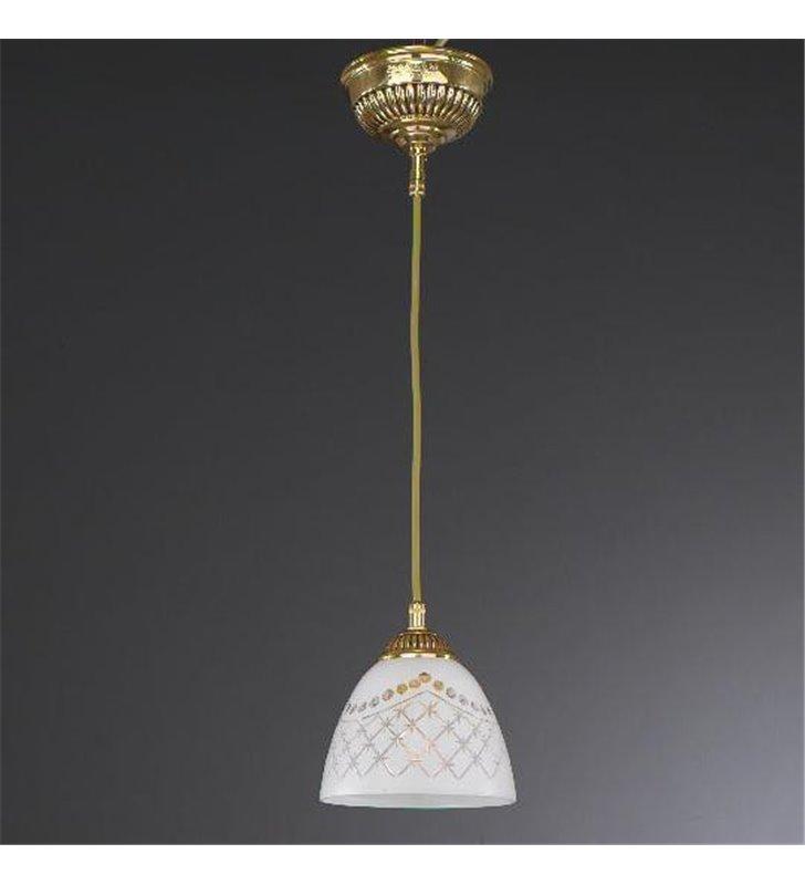 Lampa wisząca z białym kloszem Karen