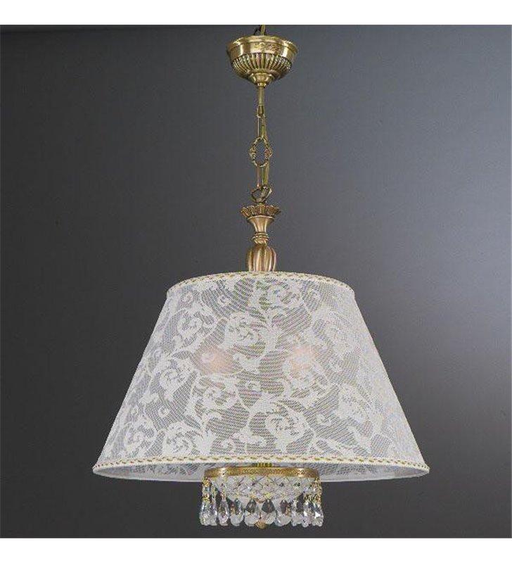 Stylowa lampa wisząca Wenecja abażur jak z koronki