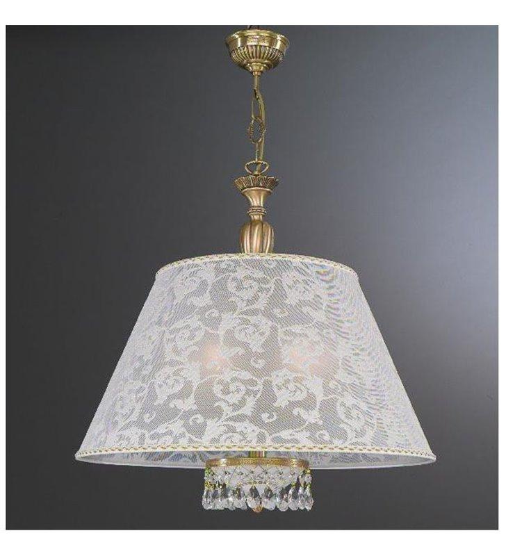 Lampa wisząca z białym abażurem Wenecja