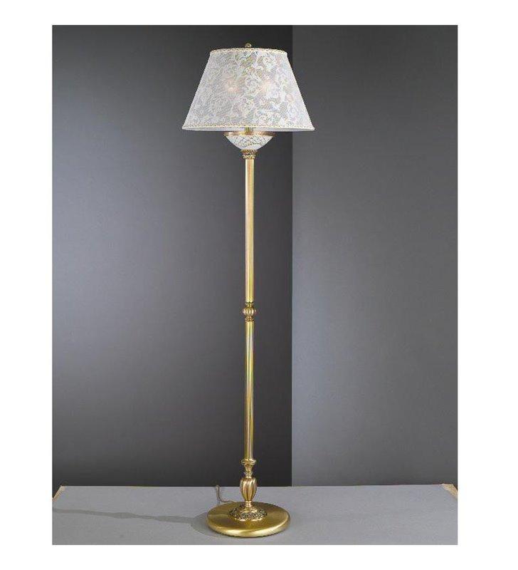 Lampa podłogowa z białym abażurem Wenecja1