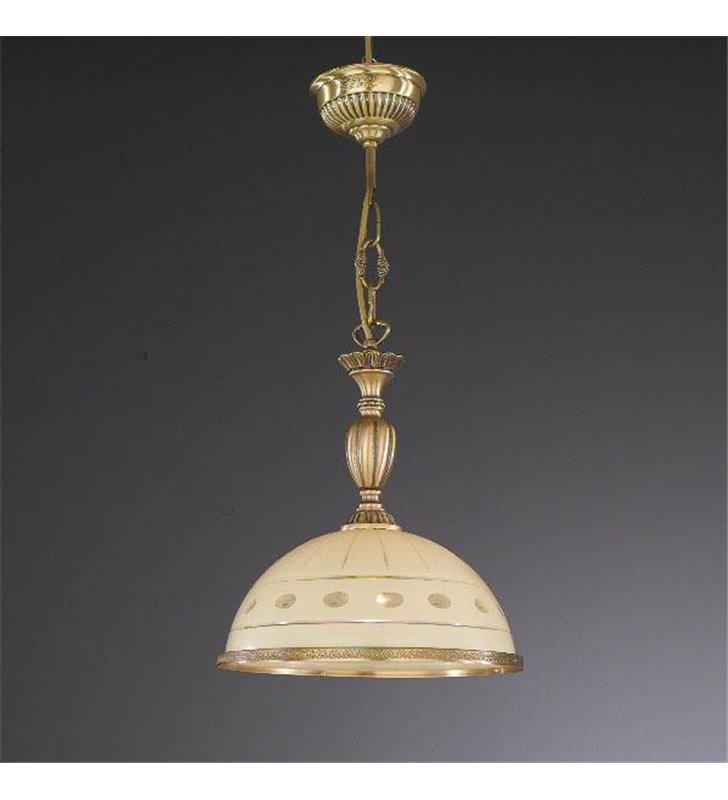 Stylowa lampa wisząca Katania1 mosiądz