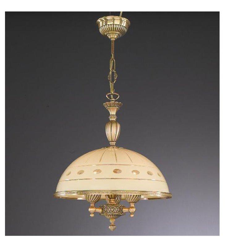 Klasyczna lampa wisząca do kuchni salonu Katania1 mosiądz