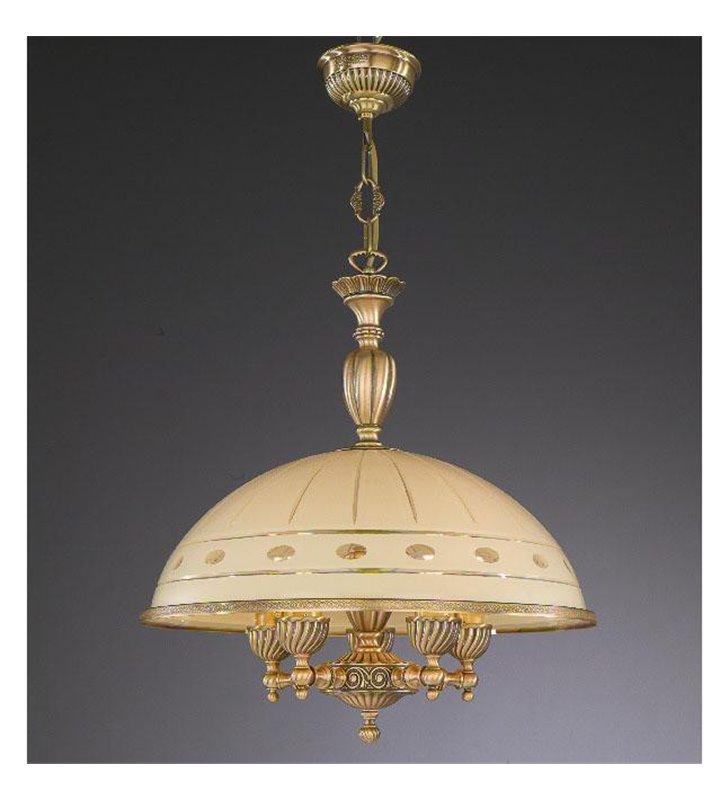 Włoska lampa wisząca Katania1 mosiądz