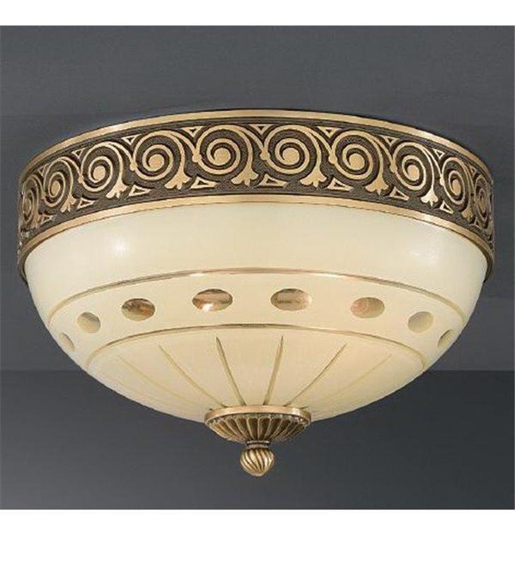 Elegancki włoski plafon Katania1 300 mosiądz