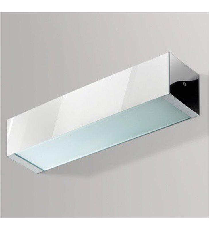 Kinkiet Archo 2B chrom podłużny w stylu nowoczesnym pionowy strumień światła