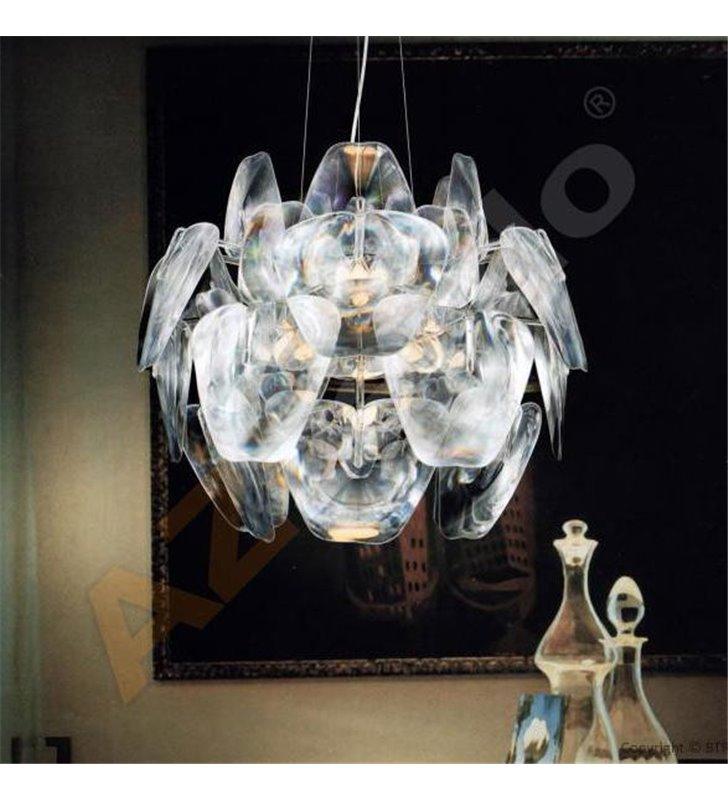 Lampa wisząca 3D nowoczesna designerska długi zwis