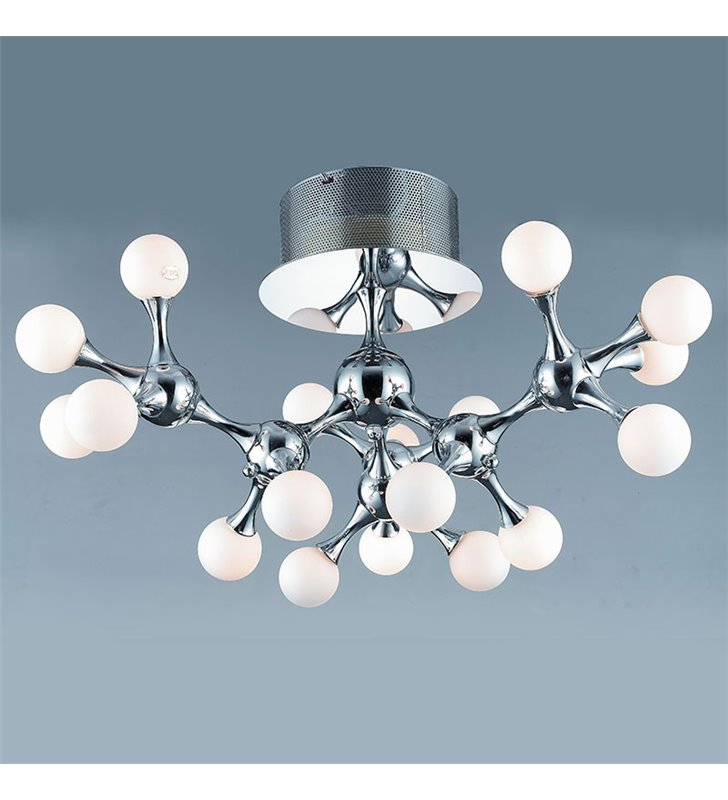 Lampa sufitowa Neurono nowoczesna wielopunktowa szklane białe kule do salonu sypialni na korytarz przedpokój