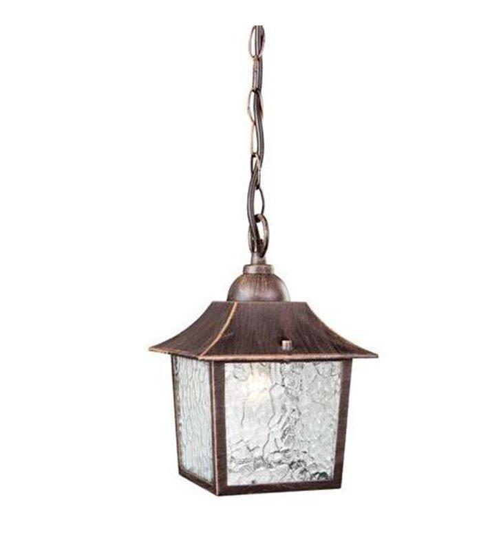 Lampa wisząca do ogrodu Debrecen brązowa kwadratowa - DOSTĘPNA OD RĘKI