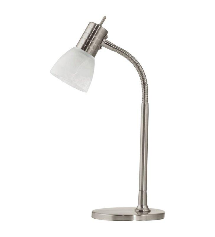 Lampa stołowa Prince1 nikiel satyna przełącznik na kablu