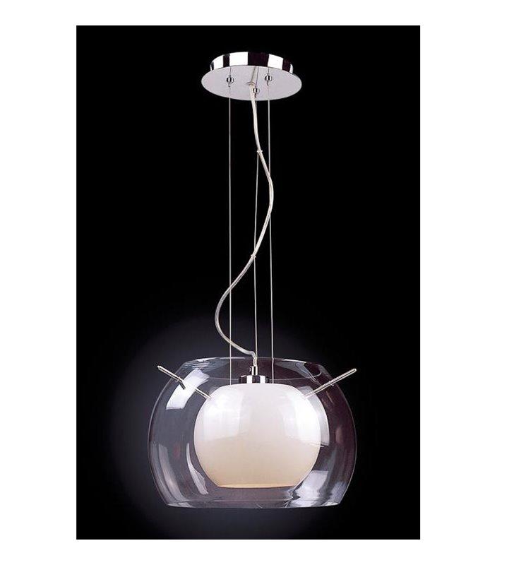Lampa wisząca Koma podwójny klosz do salonu sypialni jadalni kuchni