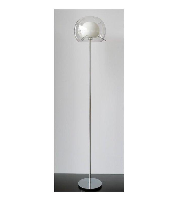 Lampa podłogowa Koma podwójny szklany klosz