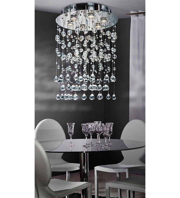 Lampa wisząca Comet zwisające kryształowe kulki elegancka dekoracyjna do sypialni jadalni do salonu