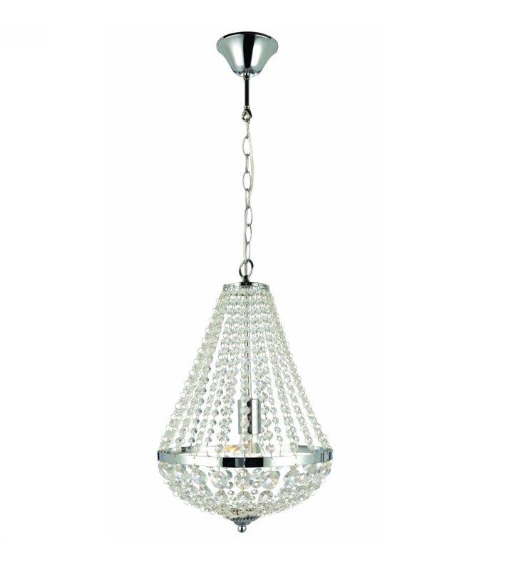 Żyrandol Granso lampa wisząca kryształowy chrom