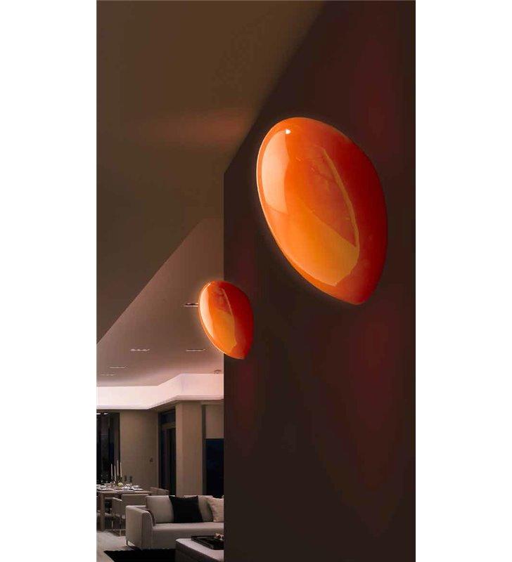 Kinkiet Lotus Orange mały szklany pomarańczowy