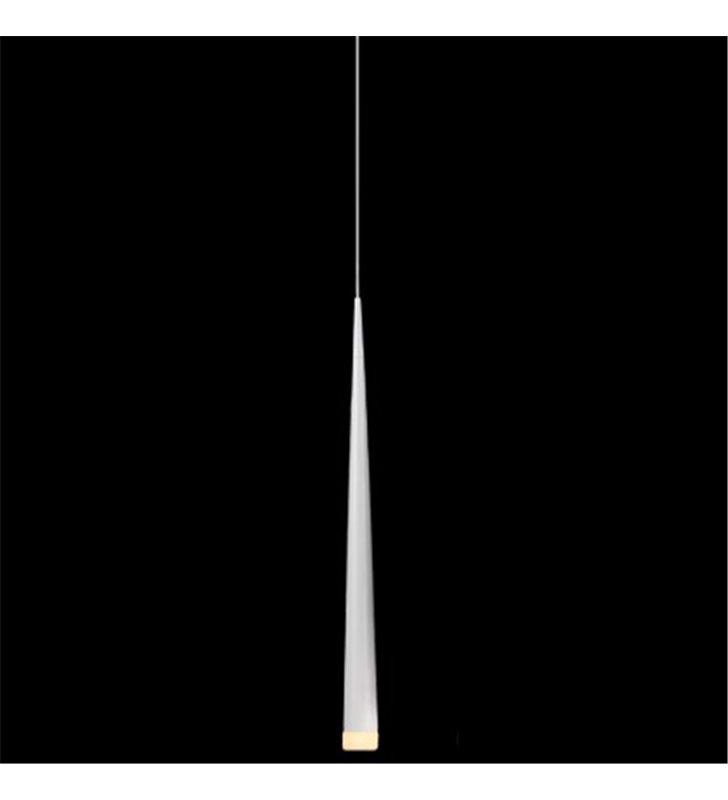 Lampa wisząca Stylo1 biała smukła klosz stożek - DOSTĘPNA OD RĘKI