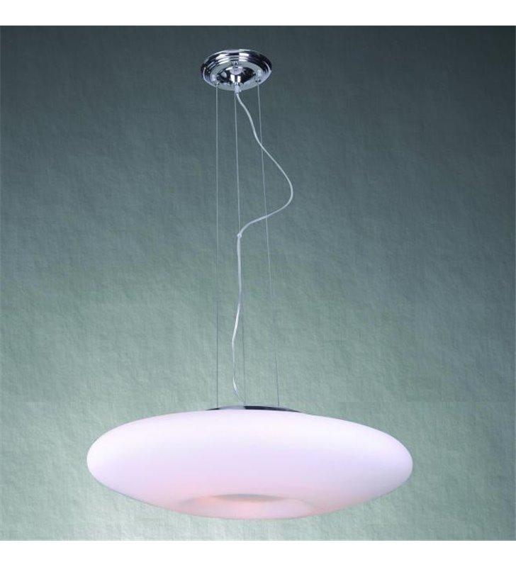 Lampa wisząca Pires 70 duża okrągła z białego szkła - DOSTĘPNA OD RĘKI