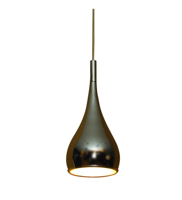 Lampa wisząca Spell Chrom metalowa pojedyncza w kształcie kropli