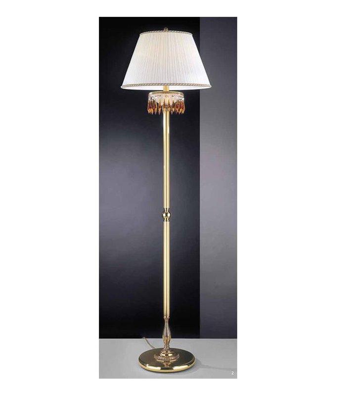 Stojąca lampa podłogowa Ferrara biały abażur
