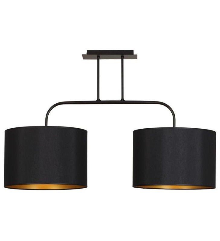 Lampa sufitowa Alice Gold podwójna czarna wewnątrz złota
