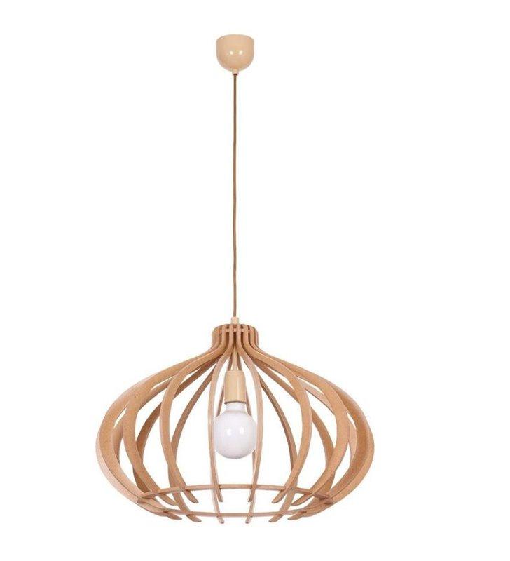 Lampa wisząca Ika drewniana do salonu kuchni jadalni
