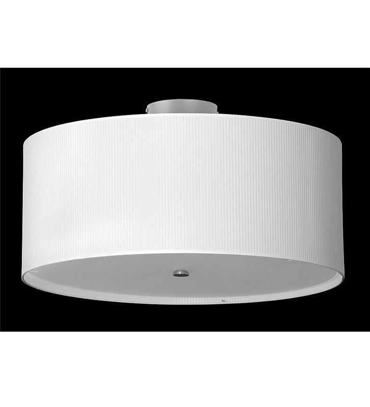 Plafon Rondo Plisa 600 (K) biały okrągły wysoki klosz do salonu sypialni holu