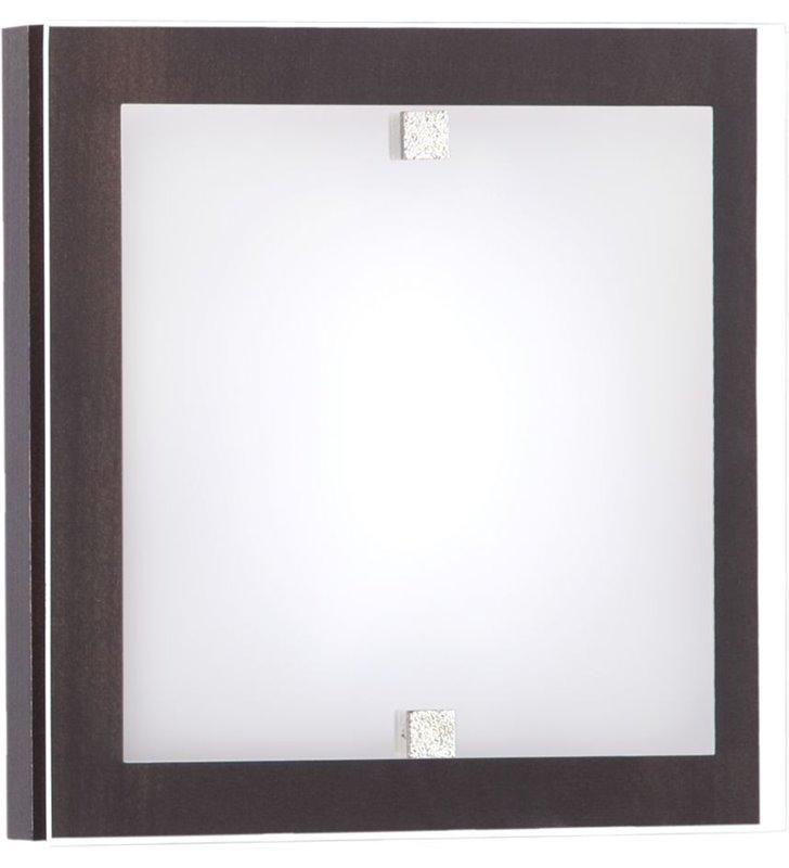 Plafon Kyoto Wenge 200 mały drewniany kwadratowy - DOSTĘPNY OD RĘKI