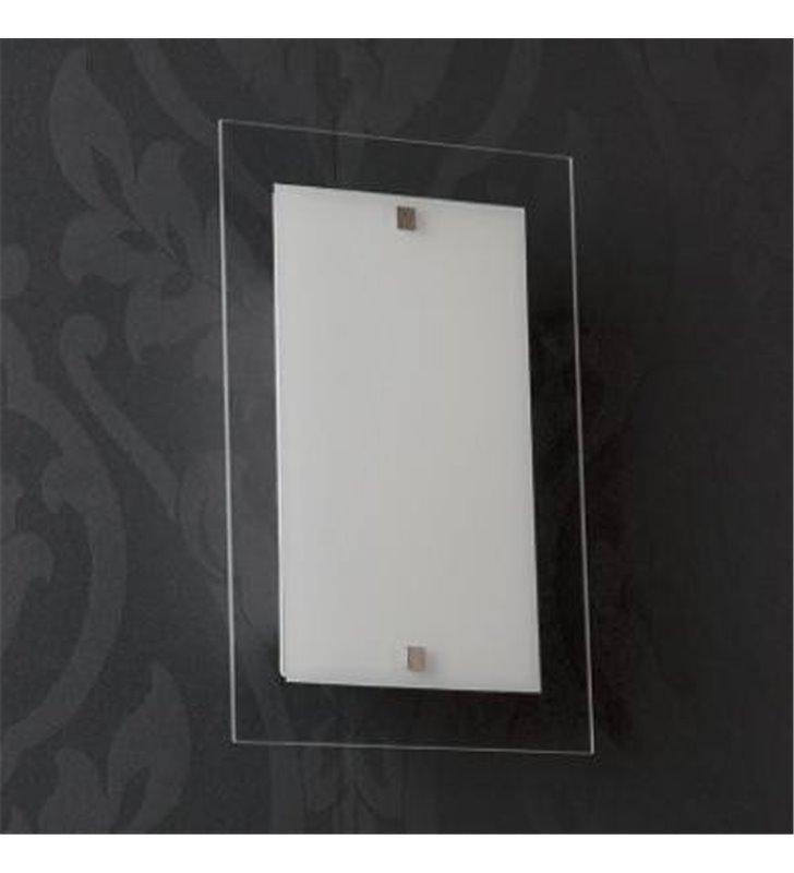 Szklany kinkiet ISE Square - DOSTĘPNY OD RĘKI