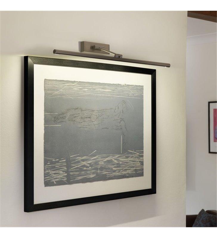Lampa nad obraz Goya nikiel szczotkowany 76cm LED ruchoma