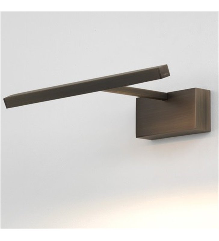 Lampa Mondrian brązowa do oświetlenia obrazu 30cm
