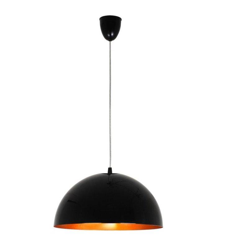 Lampa wisząca Hemisphere Black Gold czarna ze złotym środkiem
