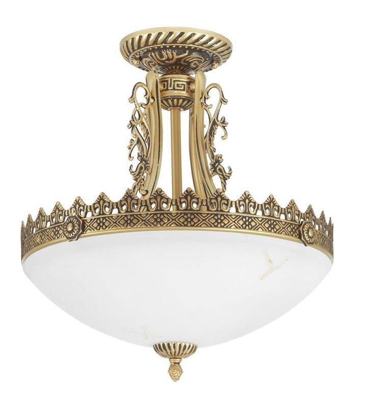 Lampa sufitowa Attyka klasyczna kolor mosiądz