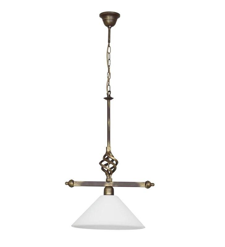 Lampa wisząca Cora klasyczna pojedyncza zdobiona
