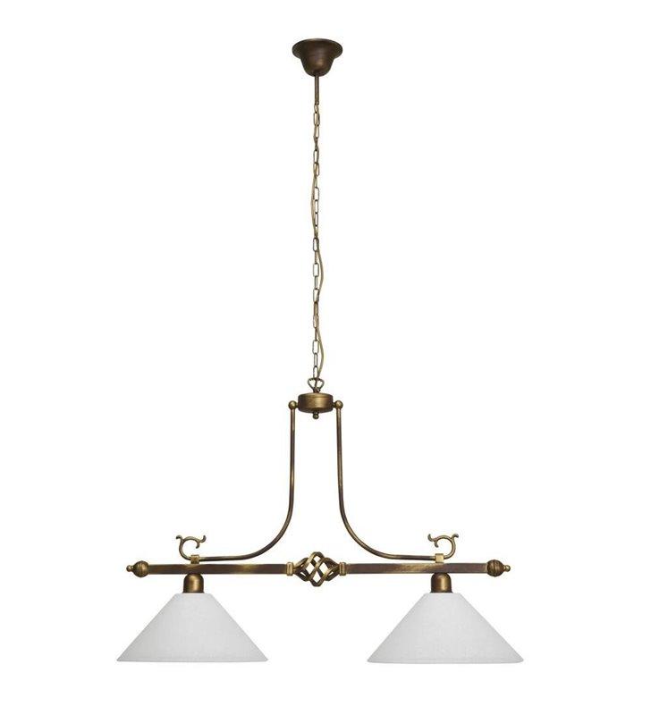 Lampa wisząca Cora klasyczna podwójna nad stół do jadalni