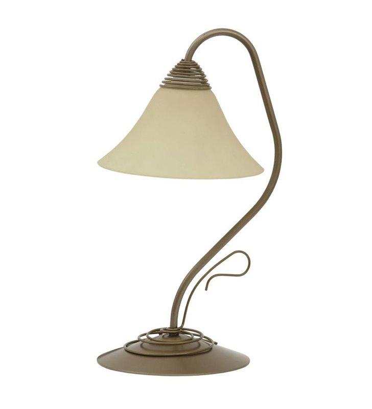 Lampa stołowa Victoria Gold klasyczna do salonu sypialni