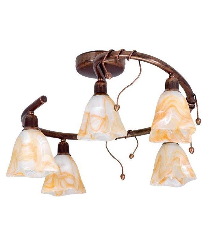 Lampa sufitowa Robin klasyczna 5 punktowa spirala - DOSTĘPNA OD RĘKI