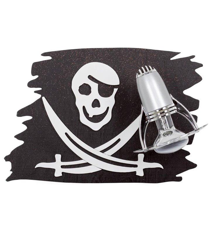 Kinkiet do pokoju chłopca Pirate z flagą piracką