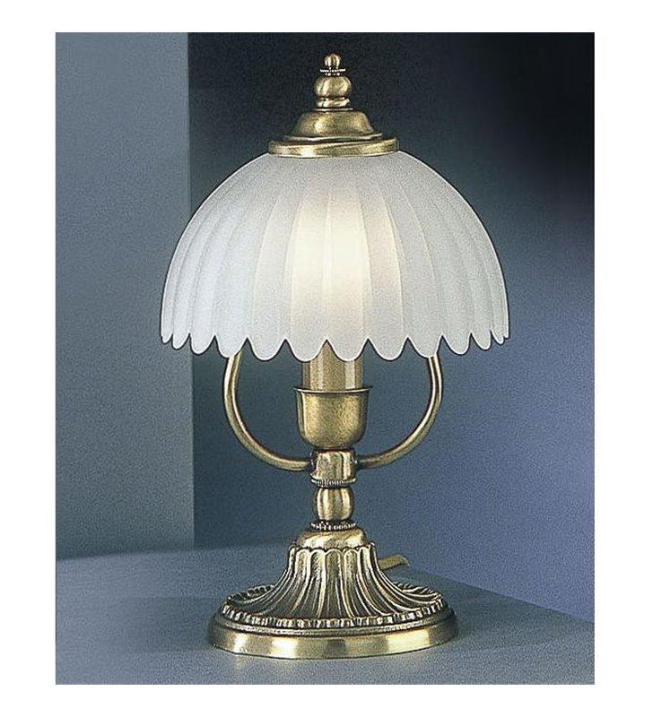 Stylowa włoska lampa stołowa Angri kolor mosiądz - DOSTĘPNA OD RĘKI