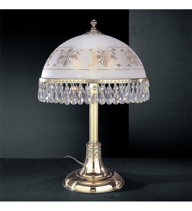 Lampa gabinetowa kryształowa Afragola złota