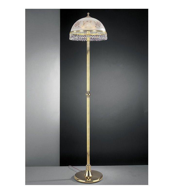 Lampa podłogowa Afragola złota