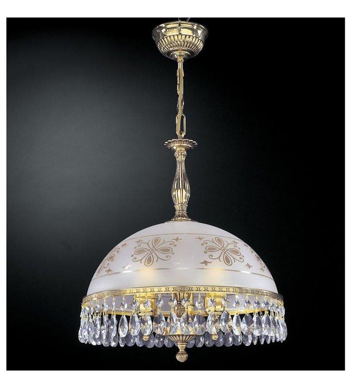 Lampa wisząca ekskluzywna Afragola złota