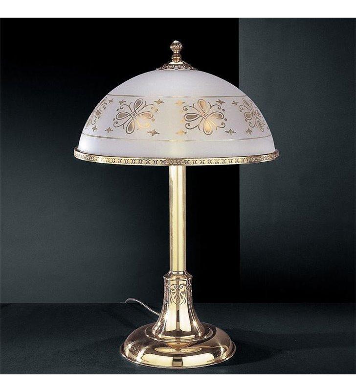 Stylowa lampa z mosiądzu Benevento złoty nocna stołowa