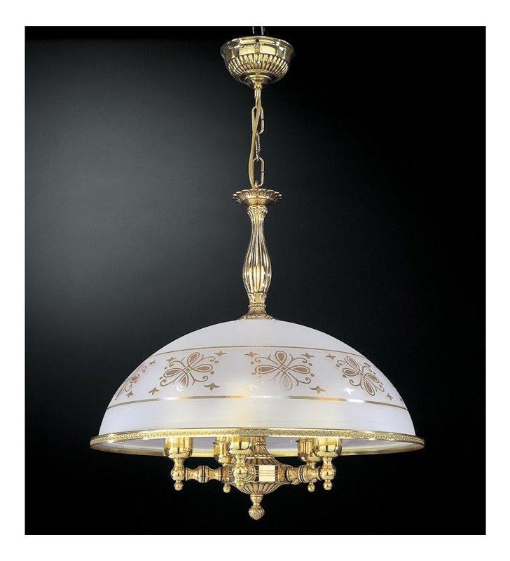 Klasyczna lampa wisząca do kuchni Benevento złoty