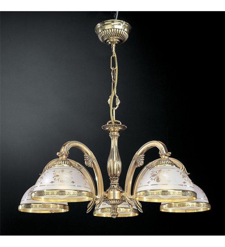 Klasyczny stylowy żyrandol Benevento złoty