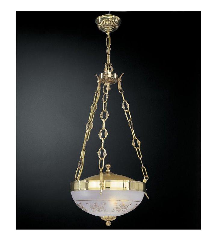 Lampa wisząca Fiuggi klasyczna złota
